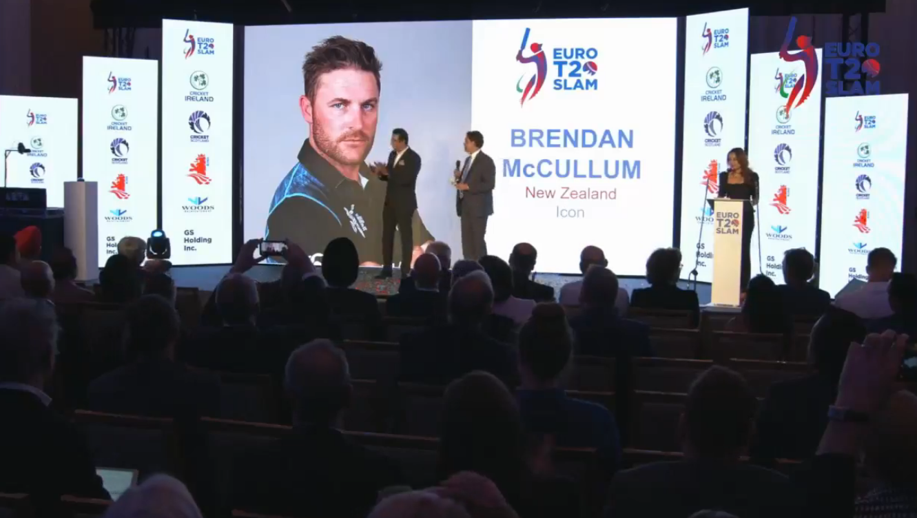 Brendan McCullum Icon Player Euro T20 Slam