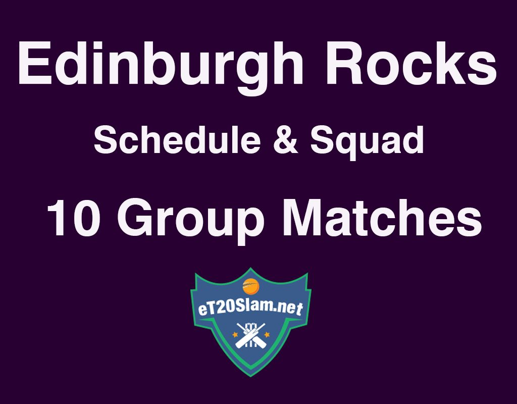 Edinburgh Rocks Schedule and Players List
