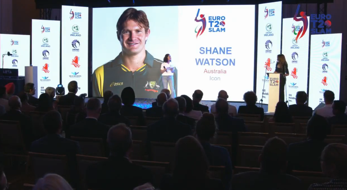 Shane Watson Icon Player Euro T20 Slam