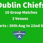 eT20s Dublin Chiefs Schedule & Team Squad