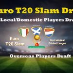 Euro T20 Slam Draft 2019 | Draft Picks For Local and Foreign Players