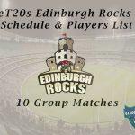 eT20s Edinburgh Rocks Schedule & Players List