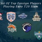 List Of Top Foreign Players Playing Euro T20 Slam