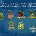 CPL T20 2019 All Teams Squads, Schedule & Complete List of Players