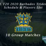 CPL T20 2021 Barbados Tridents Schedule & Players List