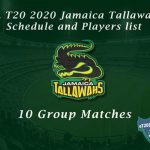 CPL T20 2021 Jamaica Tallawahs Schedule and Players list