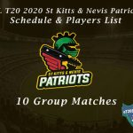 CPL T20 2021 St Kitts & Nevis Patriots Schedule & Players List