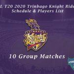 CPL T20 2021 Trinbago Knight Riders Schedule & Players List