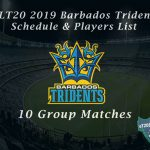 CPLT20 2019 Barbados Tridents Schedule & Players List