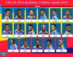 CPLT20 2019 Barbados Tridents Squad