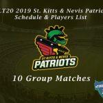 CPLT20 2019 St Kitts & Nevis Patriots Schedule & Players List