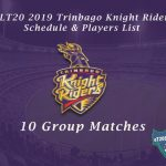 CPLT20 2019 Trinbago Knight Riders Schedule & Players List