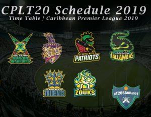 CPLT20 Schedule 2019 - Time Table Caribbean Premier League 2019 - CPLT20 Schedule 2019 Download