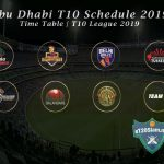 Abu Dhabi T10 Schedule 2019 | Time Table | T10 League 2019 | Abu Dhabi T10 Schedule 2019 Download
