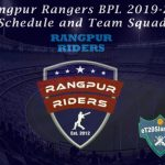 Rangpur Rangers BPL 2019-20 Schedule and Team Squad