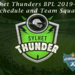 Sylhet Thunders BPL 2019-20 Schedule and Team Squad