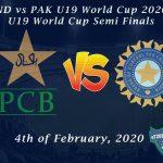 IND vs PAK U19 World Cup 2020 - U19 World Cup Semi Finals