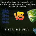 Australia Tour Of England 2020 - ODI & T20 Series Schedule, Team Squads & Live Streaming