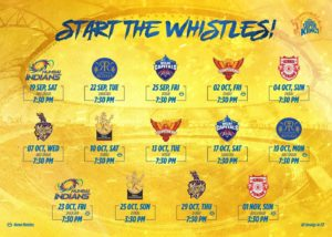 Dream11 Chennai Super Kings Schedule Download