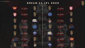 Dream11 Royal Challengers Bangalore Schedule Image Download