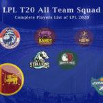 Lanka Premier League (LPL T20) All Team Squad - Complete Players List of LPL 2020
