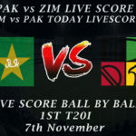 PAK vs ZIM LIVE SCORE, 1st T20I 2020, Live T20I PAK vs ZIM Today