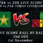 PAK vs ZIM LIVE SCORE, 2nd ODI 2020, PAK vs ZIM 2nd ODI Live PTV Sports