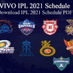 IPL 2021 Schedule - Download IPL 2021 Schedule PDF