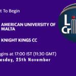 AUM vs KKCC Live Score, ECS Malta T10, AUM vs KKCC Scorecard Today, AUM vs KKCC Lineup