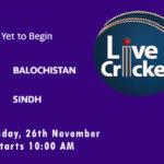 BAL vs SND Live Score, Match 13, Quaid-e-Azam Trophy, 2020, BAL vs SND Scorecard Today, BAL vs SND Lineup