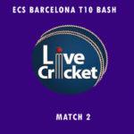 BDS vs CTT Live Score, ECS Barcelona T10 Bash, BDS vs CTT Scorecard Today, BDS vs CTT Lineup