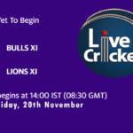 BUL vs LIO Live Score, Match 11, Pondicherry T20 Tournament, 2020, BUL vs LIO Scorecard Today, BUL vs LIO Lineup