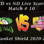 CD vs ND Live Score, Match # 10, Plunket Shield 2020-21, CD vs ND Scorecard Today, CD vs ND Lineup