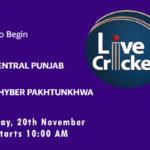 CP vs KHP Live Score, Match 12, Quaid-e-Azam Trophy, 2020, CP vs KHP Scorecard Today, CP vs KHP Lineup