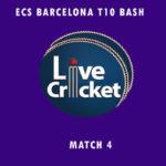 CTC vs CTT Live Score, ECS Barcelona T10 Bash, CTC vs CTT Scorecard Today, CTC vs CTT Lineup