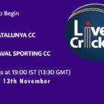 CTS vs RSCC Live Score, Match # 20, ECS Barcelona, CTS vs RSCC Scorecard Today, CTS vs RSCC Lineup