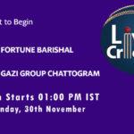 FB vs GGC Live Score, Match 7, Bangabandhu T20 Cup, 2020, FB vs GGC Scorecard Today, FB vs GGC Lineup