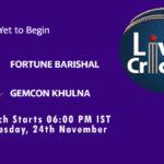FB vs GK Live Score, Match 2, Bangabandhu T20 Cup, 2020, FB vs GK Scorecard Today, FB vs GK Lineup