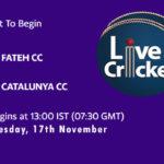 FCC vs CTC Live Score, Match 25, ECS Barcelona, FCC vs CTC Scorecard Today, FCC vs CTC Lineup
