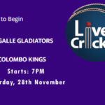GG vs CK Live Score, Match 4, Lanka Premier League, 2020, GG vs CK Scorecard Today, GG vs CK Lineup
