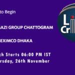 GGC vs BD Live Score, Match 4, Bangabandhu T20 Cup, 2020, GGC vs BD Scorecard Today, GGC vs BD Lineup