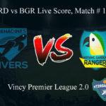 GRD vs BGR Live Score, Match # 14, Vincy Premier T10 League, GRD vs BGR Scorecard Today, GRD vs BGR Lineup