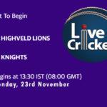 HL vs KNI Live Score, Match 9, 4-Day Franchise Series, 2020/21, HL vs KNI Scorecard Today, HL vs KNI Lineup