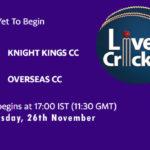 KKCC vs OCC Live Score, ECS Malta T10, KKCC vs OCC Scorecard Today, KKCC vs OCC Lineup