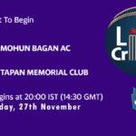 MBG vs TMC Live Score, Bengal T20 Challenge, MBG vs TMC Scorecard Today, MBG vs TMC Lineup