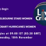 MSW vs HHW Live Score, Match 46, Women's Big Bash League 2020/21, MSW vs HHW Scorecard Today, MSW vs HHW Lineup