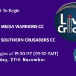 MWCC vs SCCC Live Score, ECS Malta T10, MWCC vs SCCC Scorecard Today, MWCC vs SCCC Lineup