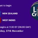 NZ vs WI Live Score,1st T20I, West Indies tour of New Zealand, 2020, NZ vs WI Scorecard Today, NZ vs WI Lineup