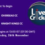 OCC vs KKCC Live Score, ECS Malta T10, OCC vs KKCC Scorecard Today, OCC vs KKCC Lineup