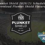 Plunket Shield 2020/21 Schedule - Download Plunket Shield Fixtures